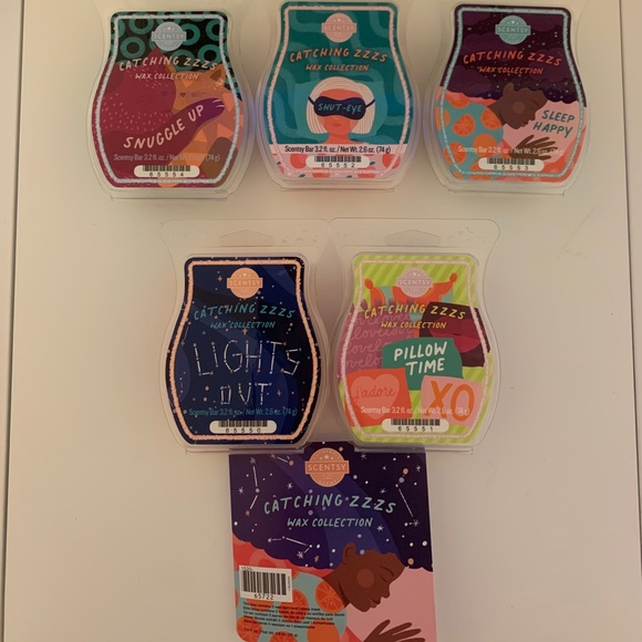 Scentsy Catching Zzzs wax collection
